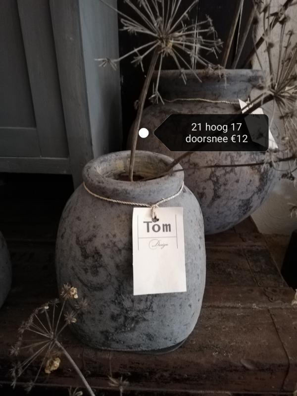 Tom pot   dark grey vergrijst hebbedingske