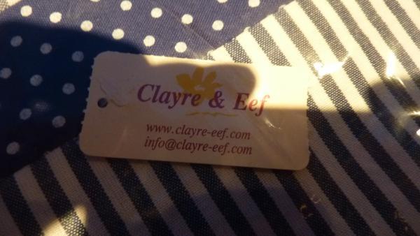 Clayre&Eef blauw wit geruit tafelkleed