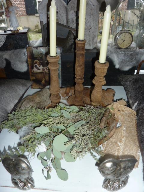 houten kaarsen standaard